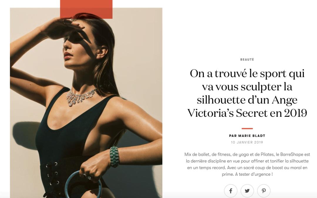 BarreShape dans VOGUE! On a trouvé le sport qui va vous sculpter la silhouette d'un Ange de Victoria Secret en 2019!