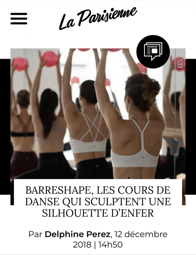 Presse BarreShape La Parisienne