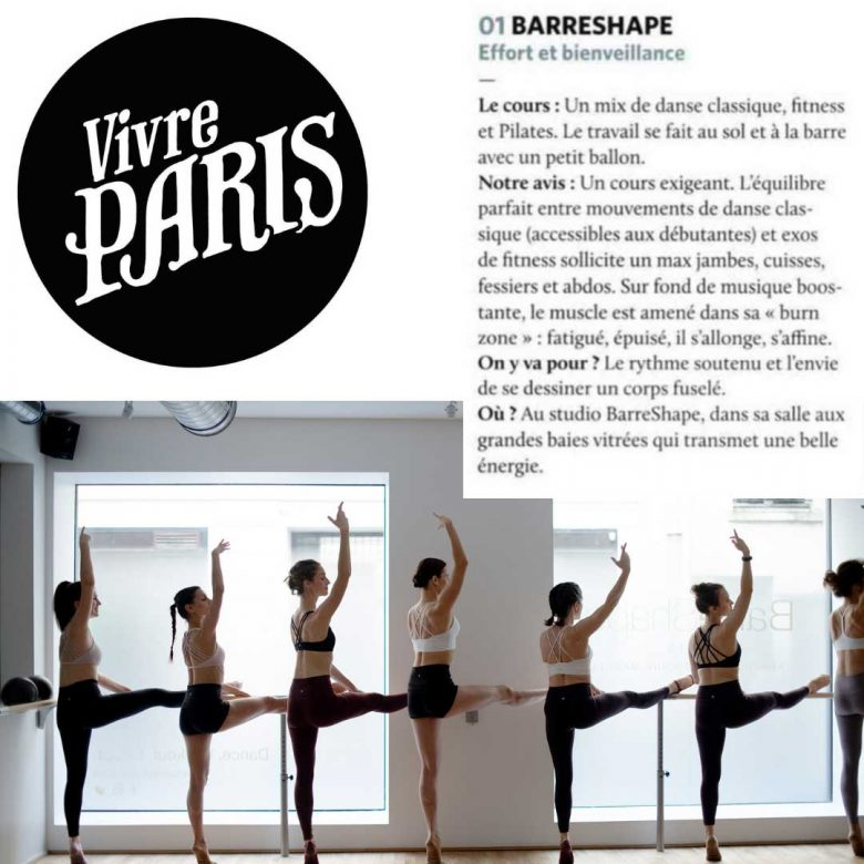 Presse BarreShape Vivre Paris